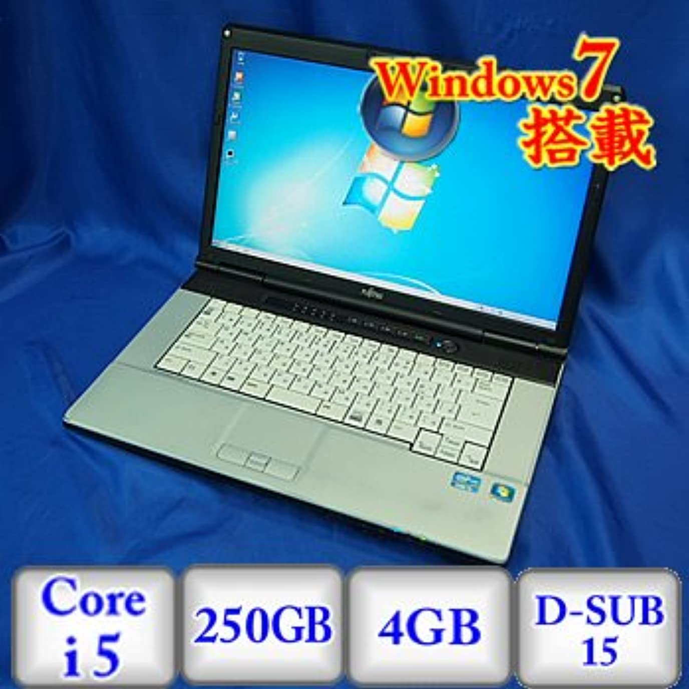 複製する労苦ビット【中古ノートパソコン】富士通 LIFEBOOK E741/D [FMVNE5NE] -Windows7 Professional 32bit Core i5 2.5GHz 4GB 250GB ドライブ なし 15.6インチ(B0113N012)