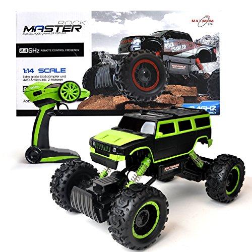 Maximum RC Ferngesteuertes Auto für Kinder - 4WD Monstertruck - XL RC Auto für Kinder ab 8 Jahren - Rock Crawler (grün)*