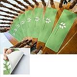 TOUCHFIVE Leucht Anti Rutsch Stufenmatten für Treppenteppich selbstklebend Anti Rutsch Streifen Treppenmatte Antirutschmatte für Außen Innen (grün)
