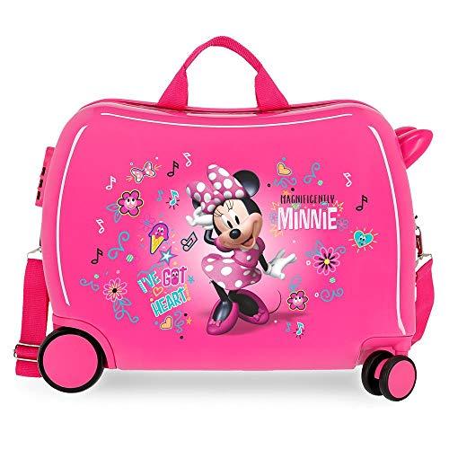 Disney Minnie Stickers Maleta Infantil Rosa 50x38x20 cms Rígida ABS Cierre combinación 34L 2,1Kgs 2 Ruedas Equipaje de Mano