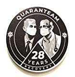 Recovery Line 28 Year AA Quarantine Masked Bill & Bob Alcoholics Anonymous Chip, Token