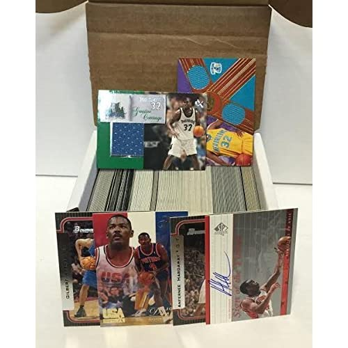 NBA Basketball Card Box 300+ Cards & 3 Relic Autograph or Jersey Per Box -