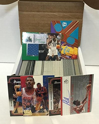 NBA Basketball Card Box 300+ Cards & 3 Relic Autograph or Jersey Per Box - Includes 3 Random Relic, Jersey or Autograph Cards & 1 Sealed Pack. – Look for NBA Rookies, Stars & NBA Hall-of-Famers