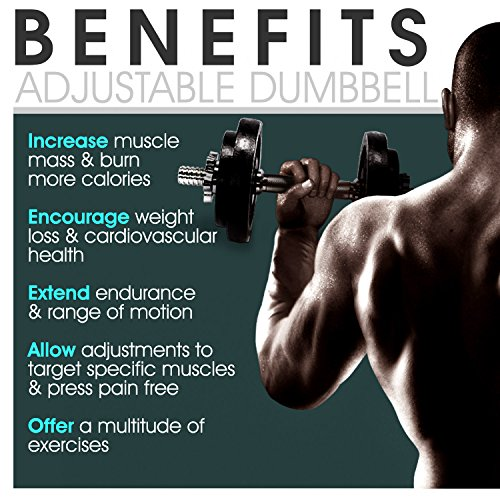 Product Image 5: Yes4All Adjustable Dumbbells – 52.5 lb Dumbbell Weights (Single)