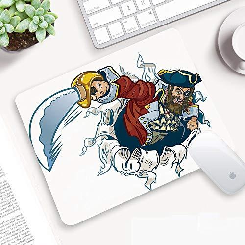 Alfombrilla Ratón 320x250 mm,Pirata, Cartoon Corsair Buccaneer arranca del efecto de telón...