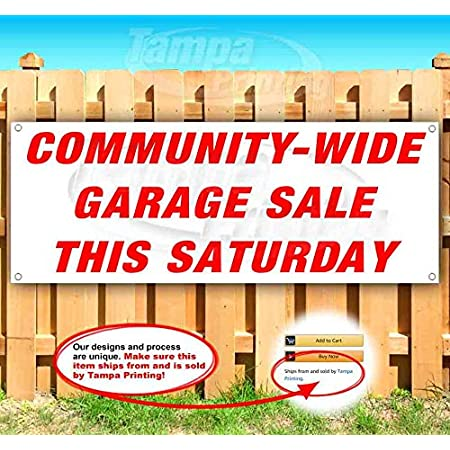 Garage Now Open Extra Large 13 oz Banner Non-Fabric Heavy-Duty Vinyl Single-Sided with Metal Grommets