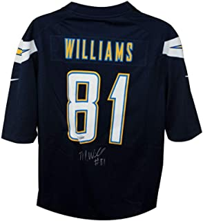 Mike Williams Autographed Los Angeles Chargers Navy Blue Football Jersey - Fanatics