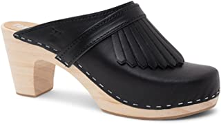 Swedish Clog Mules High Rise Wooden Heel for Women | Venice