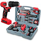 Hi-Spec 26 Piece Household DIY Tool Kit Set with 8V 1300mAh Li-Ion Rechargable Cordless Wood & Plastics Drill Driver, LED Light, Variable Speed & Range of <span class='highlight'>Hand</span> <span class='highlight'>Tools</span> in a Storage Case