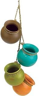 Gifts & Decor Dangling Mini Ceramic Pot Set