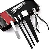 Juego de manicura de acero inoxidable conjunto de uñas Clipper Kit profesional pedicura set kit de aseo de uñas con estuche para viajes