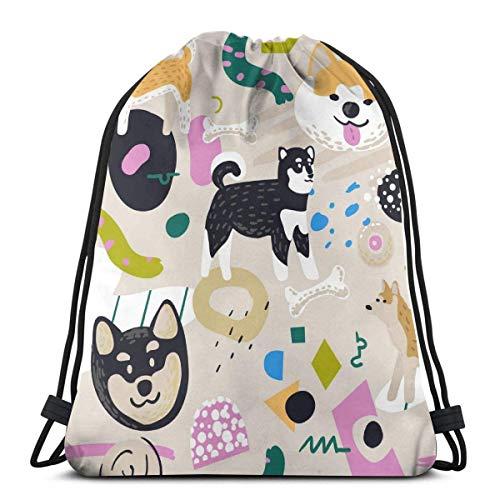 Lawenp Summer Cow Wreath Gafas de Sol Unisex Home Gym Sack Bag Travel Mochila con cordón