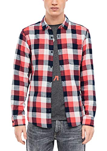 Q/S designed by Herren Hemd langarm red/white check L