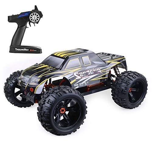 DBXMFZW RTR, 9916 1: 8 Scale Off-Road Control Remoto Coche 4WD Eléctrico sin escobillas Bigfoot Monster RC Truck Anti-Collision and Anti-Fall Escalbing RC Coche niños y adul