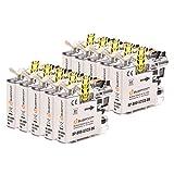 10 Bubprint Schwarz Druckerpatronen kompatibel für Brother LC-123BK LC123BK LC-123 LC-127 MFC-J4510DW MFC-J470DW MFC-J6520DW MFC-J6720DW MFC-J6920DW MFC-J870DW