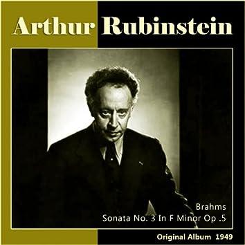 Brahms: Sonata No. 3 in F Minor, Op. 5 (Album of 1949)