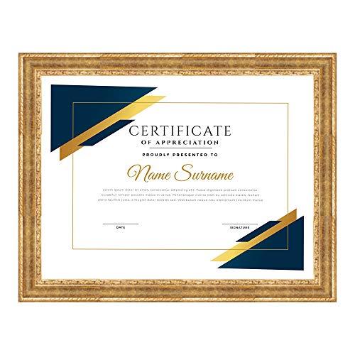 Lupia Cornice per attestati, pergamene, diplomi ROVESCIA Barocco Oro