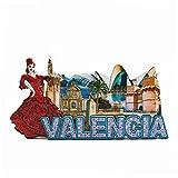 Imán 3D para nevera de Valencia España para regalo de viaje, regalo para el hogar, cocina, decoración de frigorífico