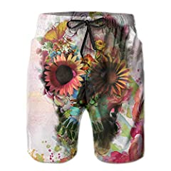 Material: 100% POLYESTER With 2 Pockets. Machine Washable Beach Pants Have Become Another Fashion For The Beach The Patterns Are Colorful And Bright It Is Suitable For Swimming, Surf Or Any Other Water Activities And Daily Life.