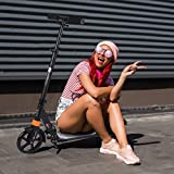 CAMILLEE Scooter for Adults,pro Scooter,Foldable Kick Scooter,Height Adjustable and Oversized Wheels