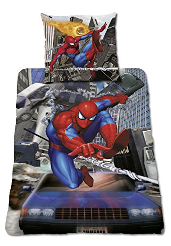 Global Labels G 14 600 MA4 100 Mavel Spiderman Bettwäsche Crash Renforce, 135 x 200 cm Bettbezug und 80 x 80 cm Kissenbezug