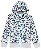 Amazon Essentials Kids Boys Fleece Zip-Up Sweatshirt Hoodies, Camo Dinosaurs, Small