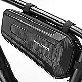 ROCKBROS Bolsa Cuadro Tubo Frontal para Bicicleta Montaña Carretera MTB a Prueba de Agua Bolso Rígido de Ciclismo Negro