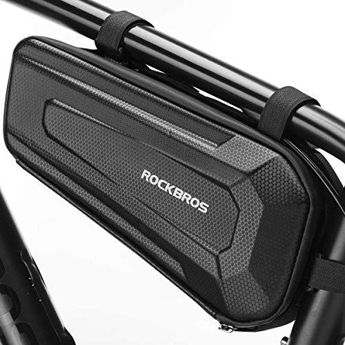 ROCKBROS Bike Frame Bag Bicycle Bag Waterproof Triangular Bag Large Capacity for Mountain Bikes, E-bikes, Racing Bikes 2.5L/1.5L (2.5L)