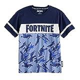 FORTNITE - Camiseta oficial con logo oficial para niños - Azul - X-Large