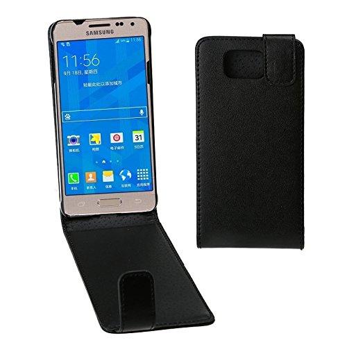 Schützen Sie Ihr Mobiltelefon Vertikale Flip Magnetic Snap Leder Tasche für Samsung Galaxy Alpha / G850F für Samsung Handy