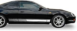 Bubbles Designs Set of Sport Side Stripes Decal Sticker Vinyl Compatible with Toyota Celica GT4 GT-Four ST205 2.0 L 1994-1999