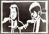 Poster Pulp Fiction Grafiti Hecho a Mano - Handmade Street Art - Artwork