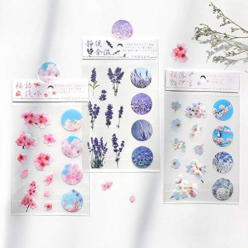 Blooming Flowers of The City PVC Transparent PVC Stickers Cute Scrapbooking Stationery Stickers Diy School Office