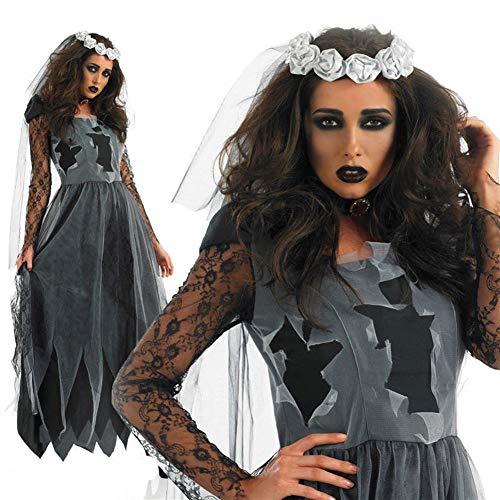GXDJQWSJ Halloweenkostüm, Halloween-Kostüm-Dame-Rollenspiel Uniform Halloween Sexy weibliches Teufel-Pack Vampir Kostüm Braut (Color : A, Size : L)