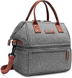 work bag with lunch compartment