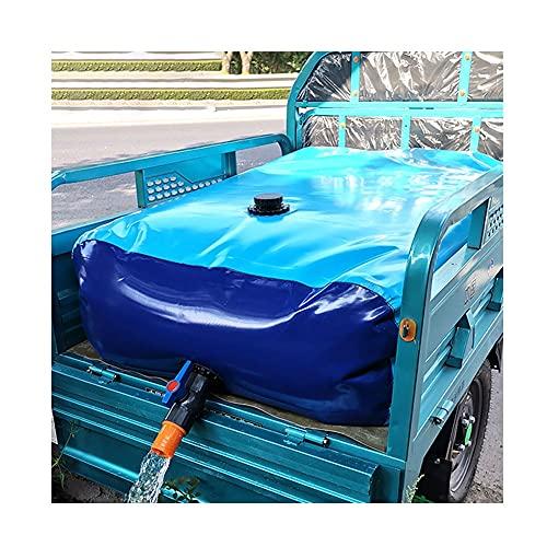 Contenedor Portador De Agua De Gran Capacidad Para Exteriores, Bolsa De Almacenamiento De Agua Flexible Resistente Al Desgaste Con Válvula De Encendido ( Color : Blue , Size : 540L/1.5x0.9x0.4M )