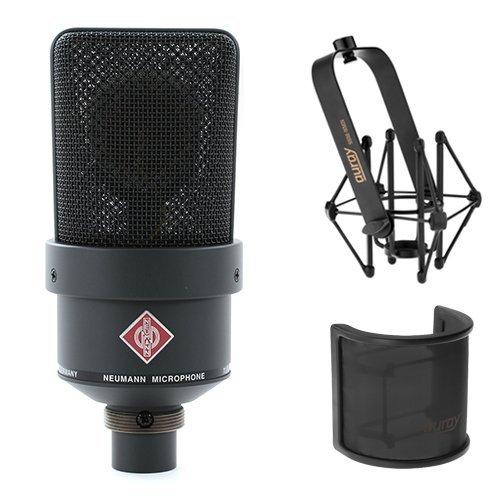 Neumann TLM 103 Large Diaphragm Condenser Microphone (Black) With Suspension Shockmount & Pop Filter