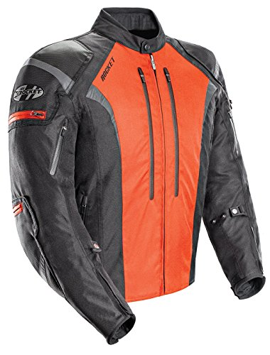 Joe Rocket Atomic Men's 5.0 Textile Motorcycle Jacket (Orange, Medium)
