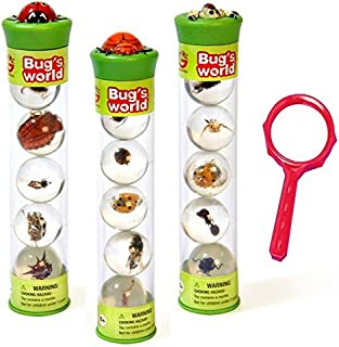 Bugs World Insect Marbles (Set of 15) with Magnifying Glass