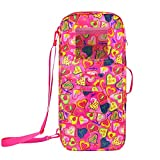 Ecore Fun Doll Travel Case Suitcase Storage Bag Carry Bag for 18 Inch Girl Doll Travel Accessories Toy Carrier Case Organizer- with Multi-Pocket