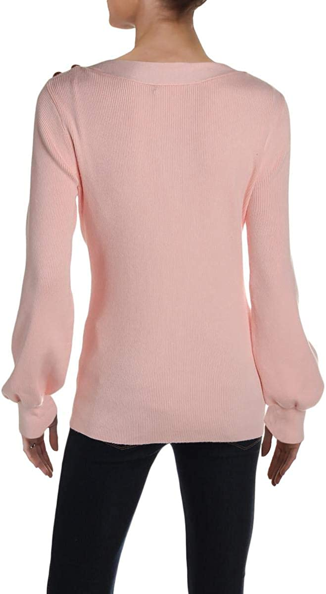 Ralph Lauren Womens Ribbed Pullover Sweater, Pink, Small