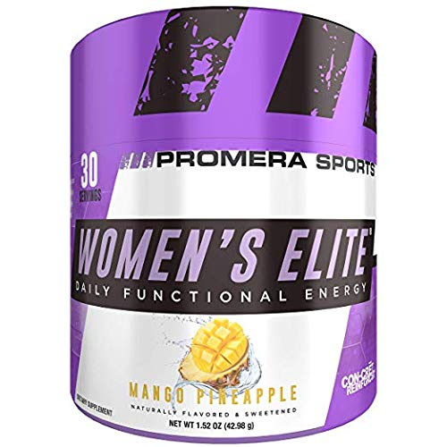 ProMera Sports Women's Elite®, Mango Pineapple, 30 Servings, Premiere Functional Energy, Metabolism Enhancement, and Wellness Support for Peak Performance