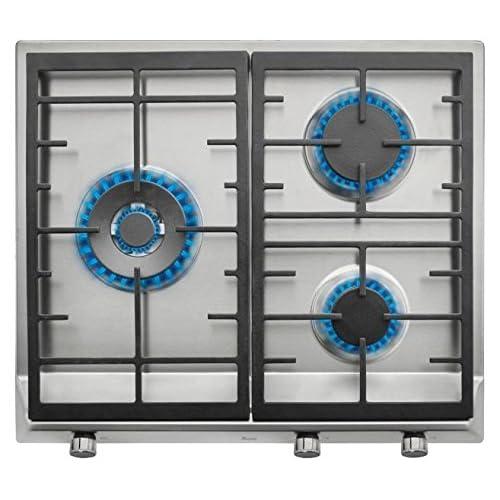 Placa Bosch PPC6A6B20 Integrado Encimera de gas Negro hobs Integrado, Encimera de gas, Vidrio, Negro, hierro fundido, 1000 W