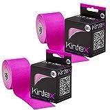 Kintex Tape Cinta de kinesiología (2 Rollos, 5 cm x 5 m), Rosa...