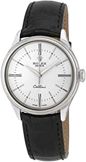 Cellini Time White Dial Automatic Men's 18 Carat White Gold Watch 50509WSL