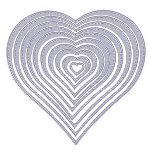 SpirWoRchlan Stanzformen, Stanzformen Metall Prägeschablone für Scrapbooking DIY Album Papier Karte Art Craft Decor, Herzform