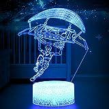 3D LED Luz de Noche, Paraguas Deslizante Lámpara de Ilusión y 7 Colores Lámpara de Decoración Cambio para Regalo Perfectos para Niño