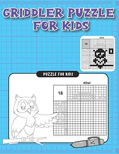 Griddlers puzzle for Kids: Hanjie Picross Griddlers Japanese Crossword Puzzles Book for kids