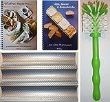 HG Verlag PXXL-Set Baguetteblech + All About Baguettes. 40 Variationen mit dem Thermomix + Dips, Saucen und Brotaufstriche 50 Rezepte .aus dem Thermomix + Bürste TM21 TM31 TM5 …