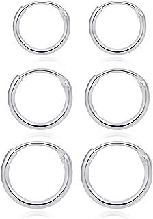 Best small silver hoop earrings cartilage Reviews